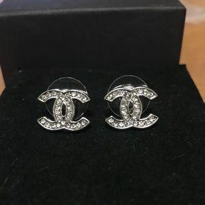 Chanel silver earrings